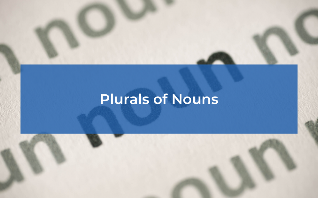 Plurals of Nouns