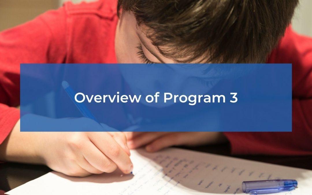 Overview of Program 3