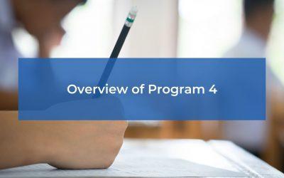 Overview of Program 4
